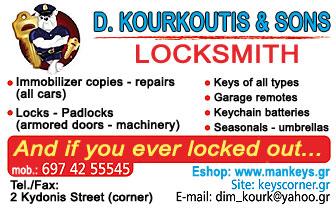 Locksmith – Keys : Kourkoutis
