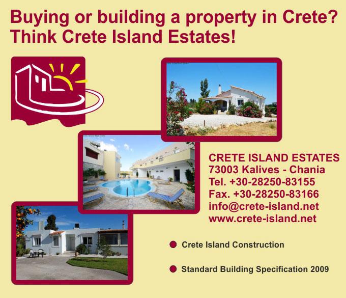 Real Estate and Constraction – Crete Island Estates