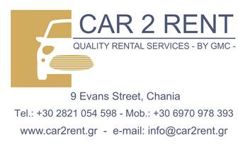 Car2Rent – Renta a Car in Chania