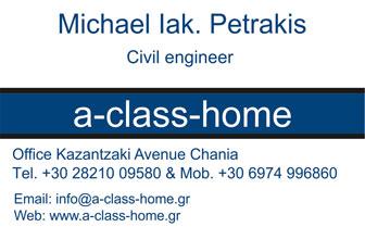 Civil Engineer  Michael Iak. Petrakis – Ready-built buildings