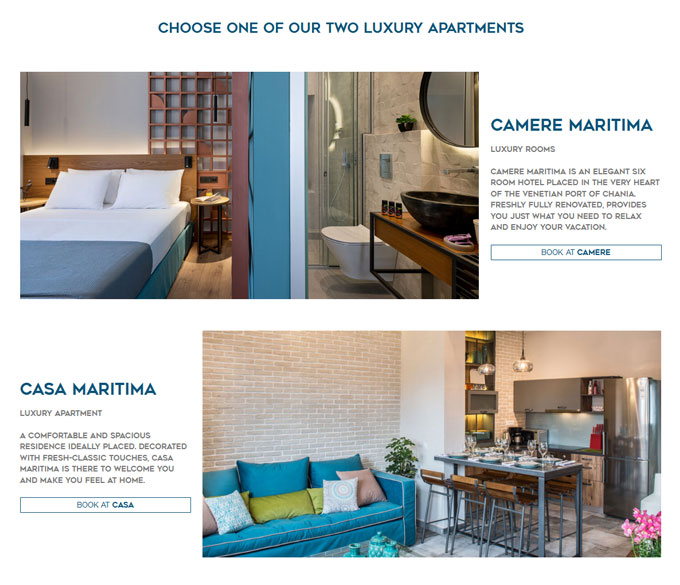 Casa Maritima & Camere Maritima Rooms to let in the Venetian port of Chania